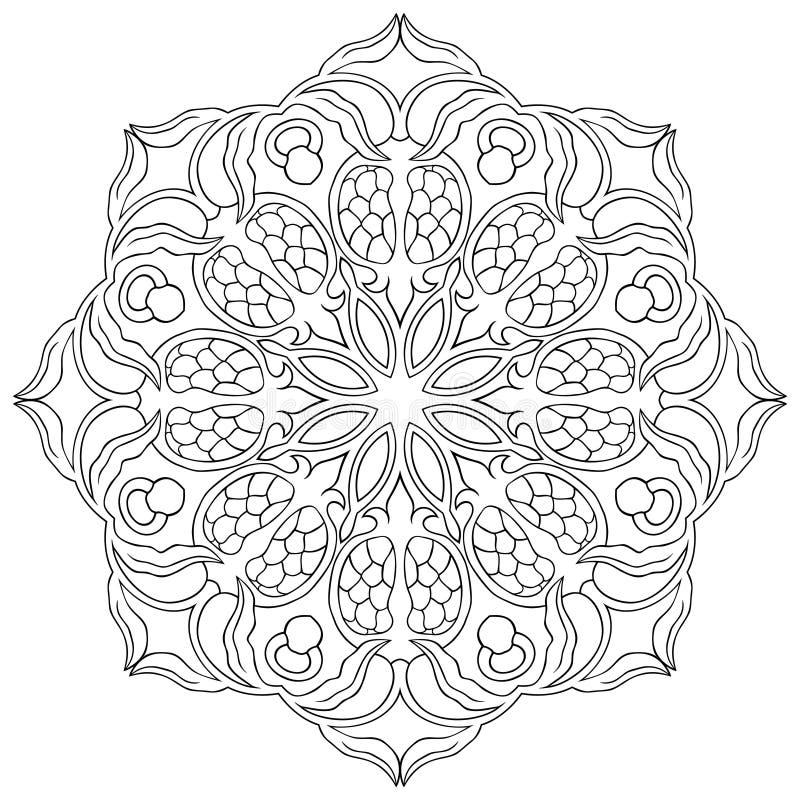 Ornamental floral mandala. stock vector. Illustration of black ...