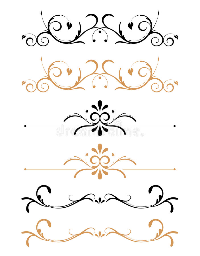 Ornamental floral page decorations stock vector for Pagina de decoracion