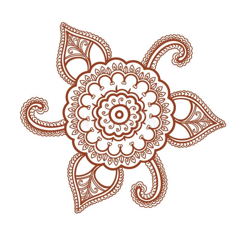ornamental flower decorative indian henna ornament mendi arabian rh dreamstime com henna vector png henna vector border