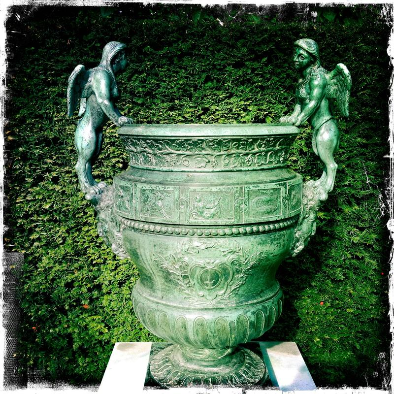 Free Ornamental Flower Pot With Angels Stock Photo - 28038170