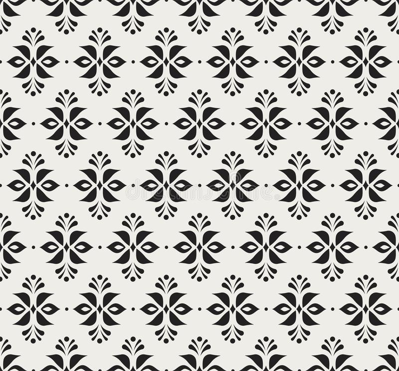 Ornamental flower victorian seamless pattern. Vector floral abstract texture. royalty free illustration