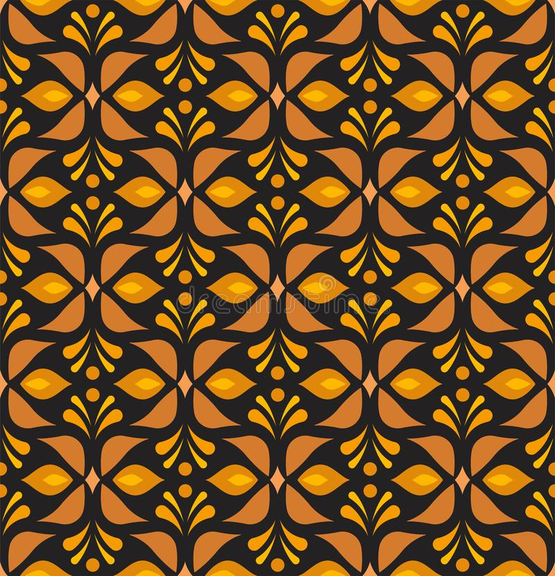Ornamental flower victorian seamless pattern. Vector floral abstract texture. stock illustration