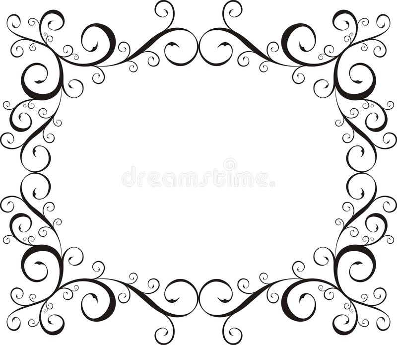Ornamental frame stock illustration