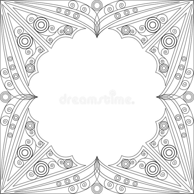 Download Ornamental frame stock vector. Image of arabic, element - 30407708