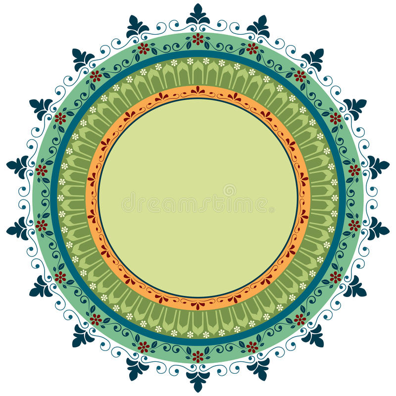 Download Ornamental frame stock vector. Image of circle, floral - 43360761