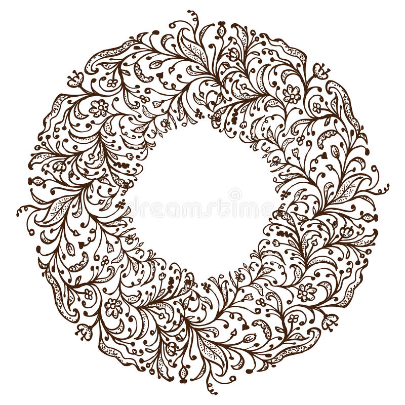 Download Ornamental Frame, Hand Drawing For Your Design Stock Vector - Image: 23943550