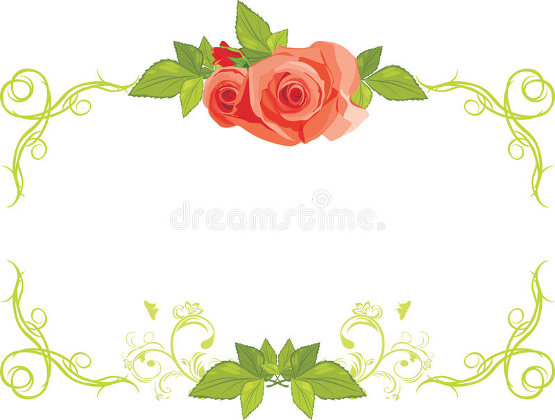 Download Ornamental Frame With Roses Stock Vector - Image: 24861246