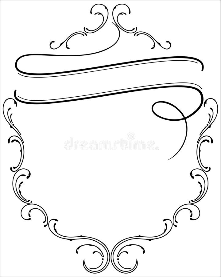 Ornamental frame with space for text stock photos