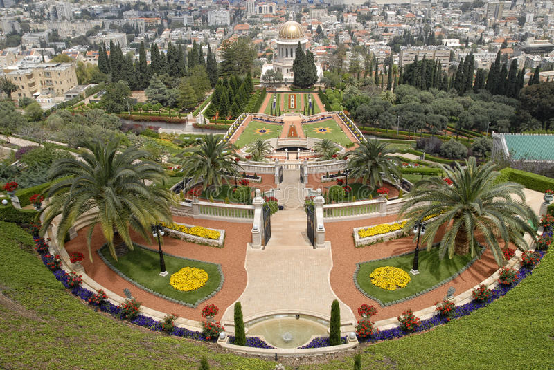 Download Ornamental Garden Of The Baha'i Temple Royalty Free Stock Photography - Image: 19583017