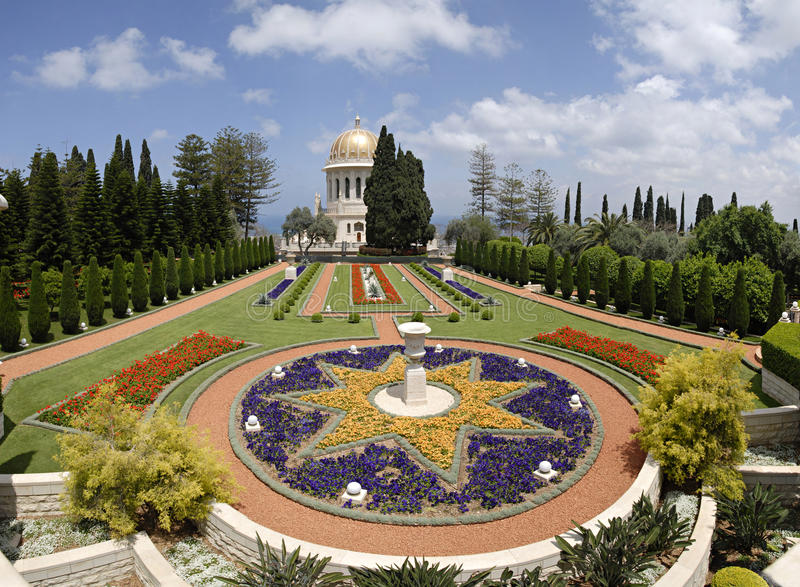 Download Ornamental Garden Of The Baha'i Temple Stock Image - Image: 19583085