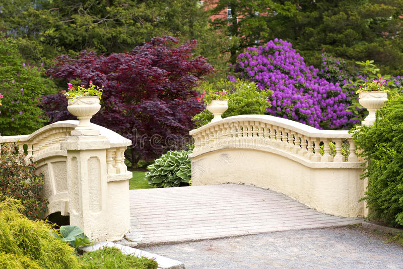 Ornamental Garden Bridge royalty free stock images