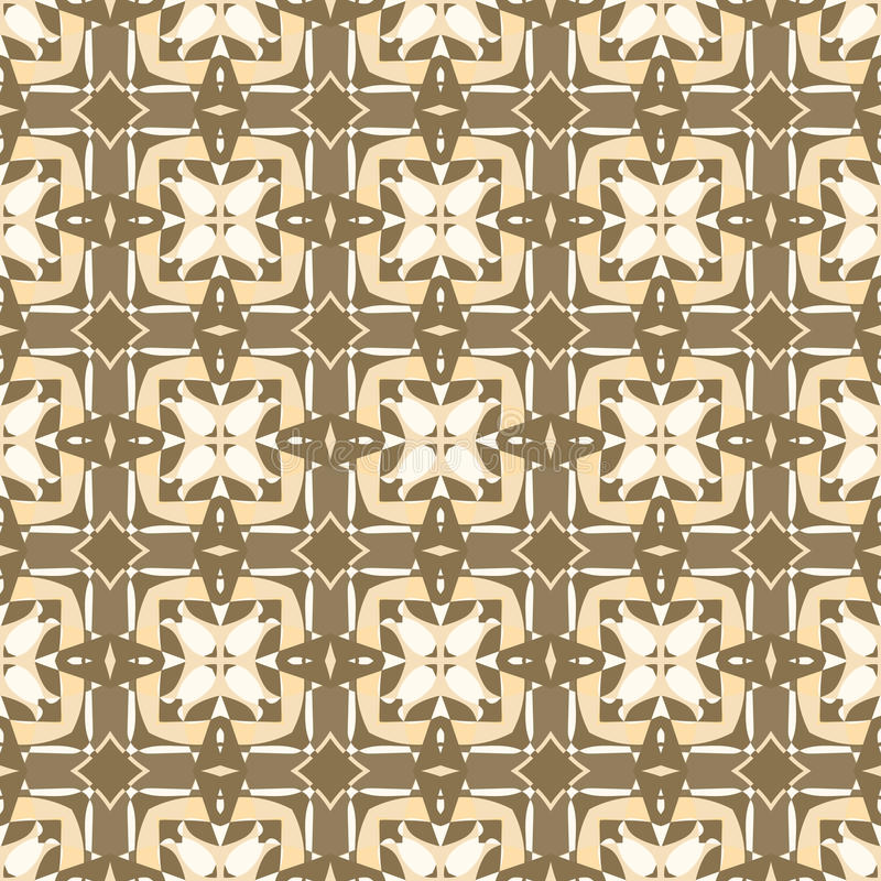 Ornamental geometric seamless pattern. Vector background texture. Retro style tile. Olive colors. vector illustration