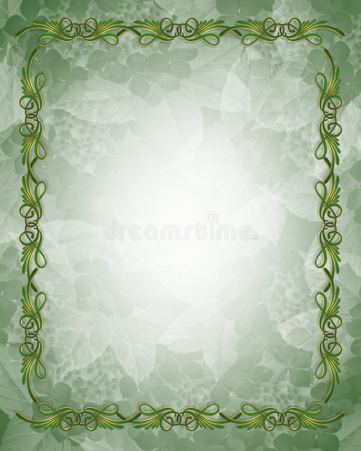 Download Ornamental Green And Gold Border Stock Photography - Image: 6015222