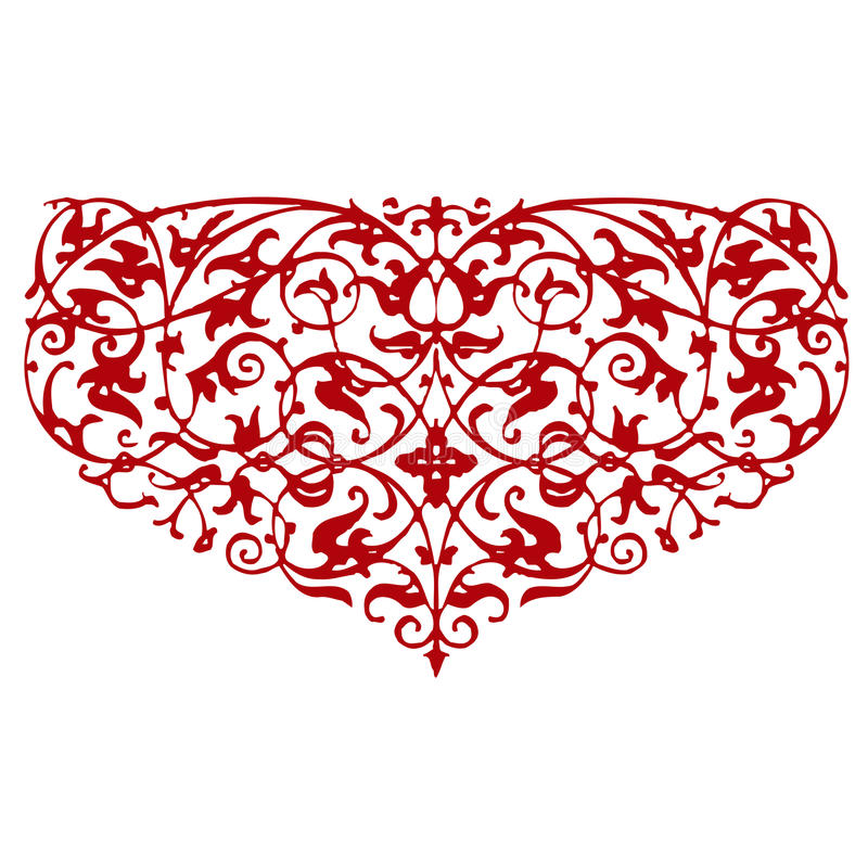 Ornamental Heart Shape Stock Photo