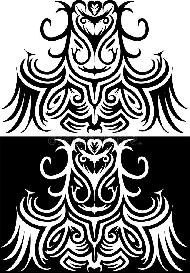 Ornamental illustration of Druid royalty free illustration