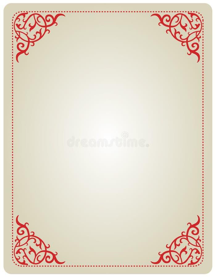 Ornamental invitation frame royalty free illustration