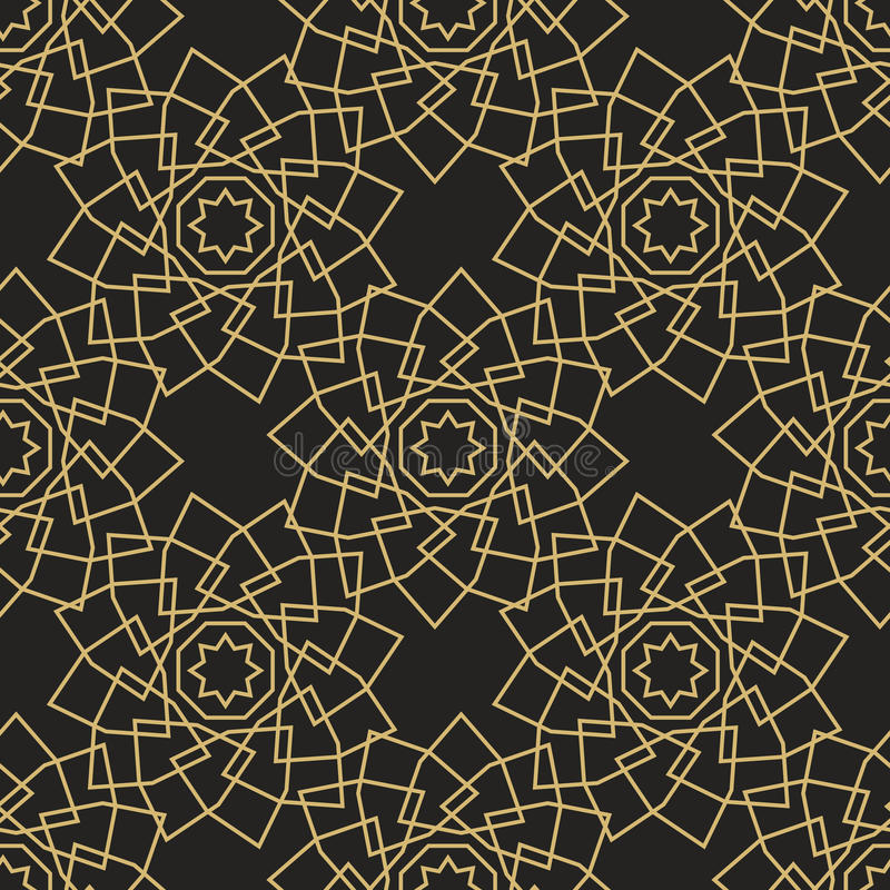 Ornamental islamic seamless pattern. Vector abstract background. vector illustration