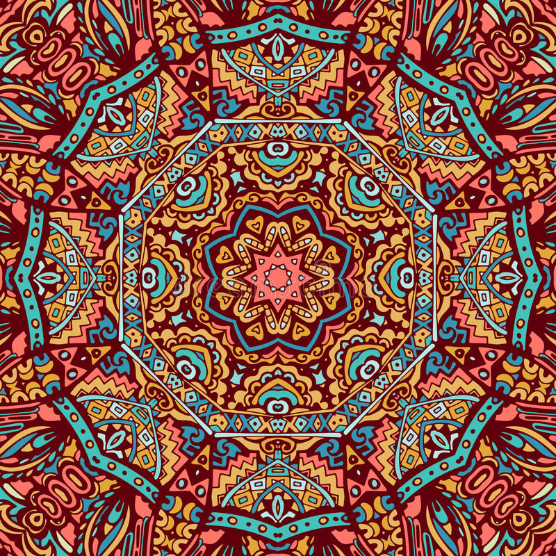 Ornamental lace pattern, circle background royalty free illustration