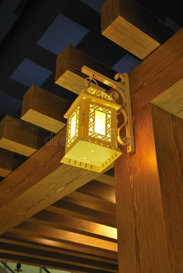 Ornamental Lamp For Ambience Stock Photos