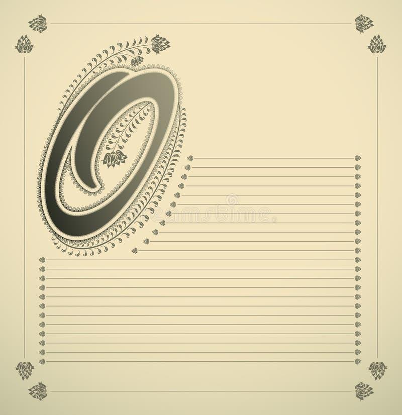 Ornamental Letter - O Stock Images