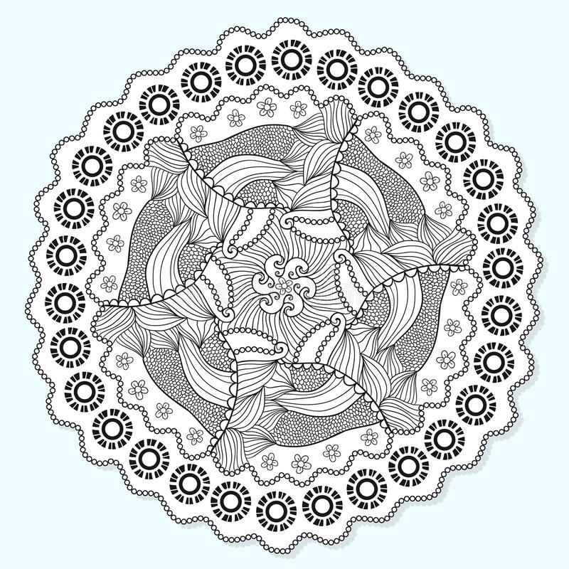 download ornamental mandala circle lace ornament pattern vector for adult coloring page napkin