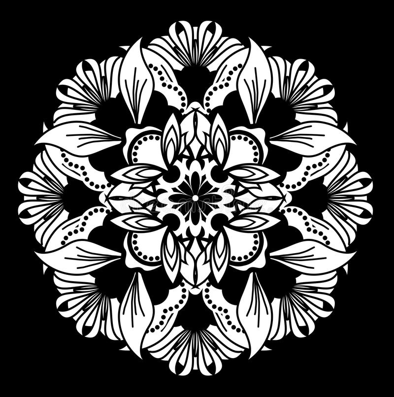 Ornamental motif vector illustration
