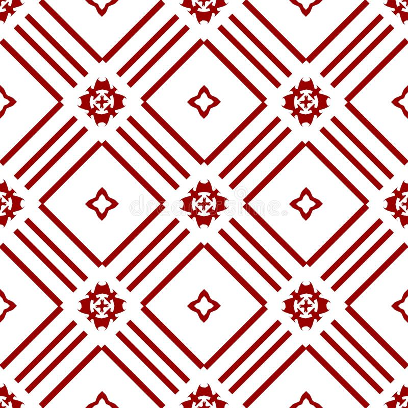 Ornamental Oriental Abstract Floral Seamless Royal Vintage Arabic Chinese Transparent Red Pattern Texture Wallpaper. Abstract Oriental Ornamental Royal Vintage royalty free illustration