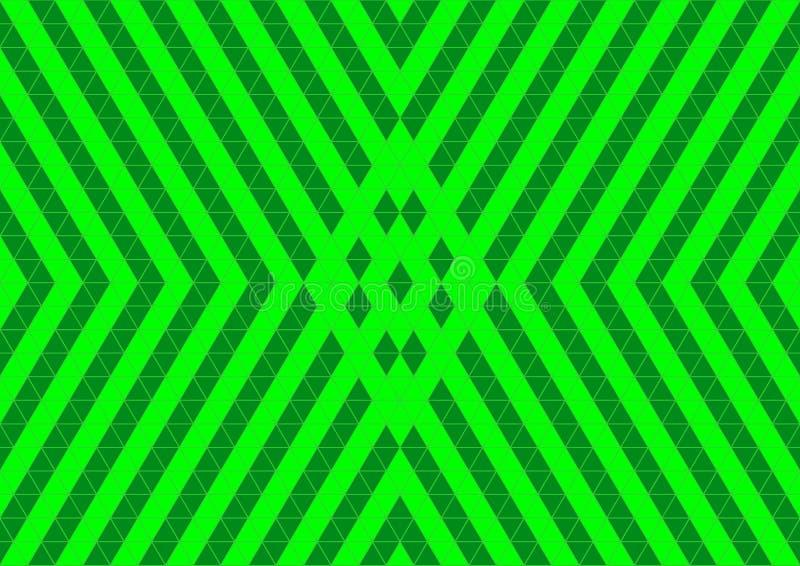 Ornamental oriental géométrique de techno en papier peint sans couture au néon de fond de modèle de couleur verte illustration de vecteur
