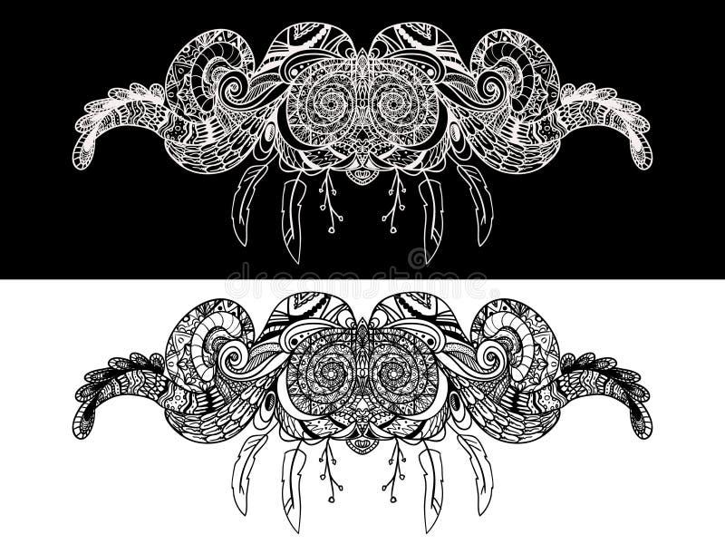 Ornamental paisley pattern, decoration floral ornament royalty free illustration