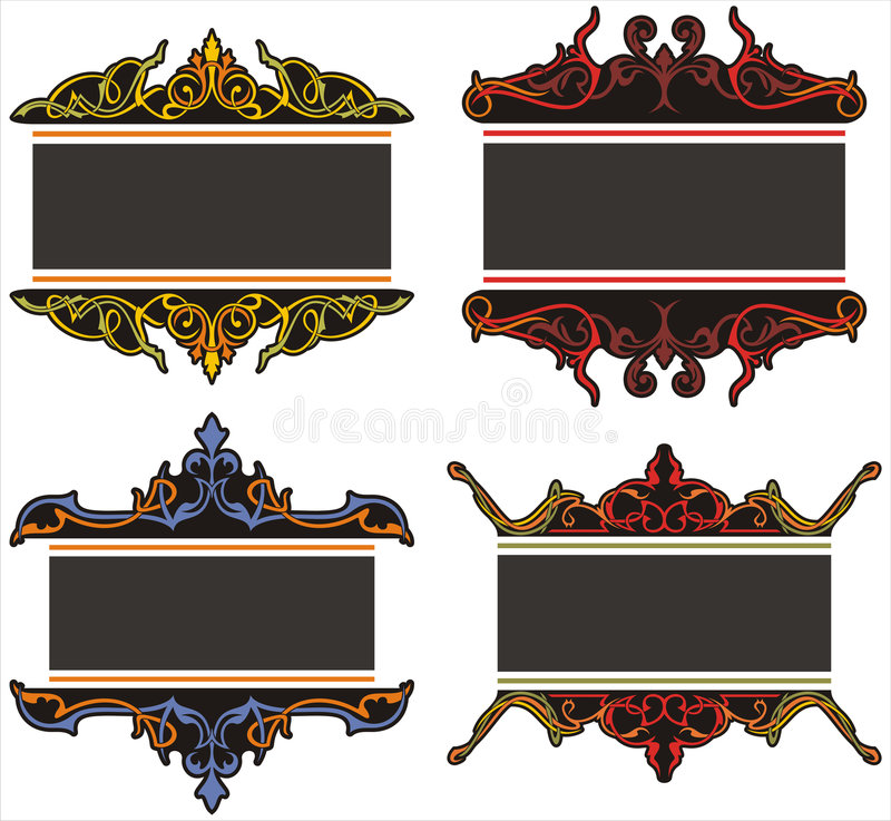 Download Ornamental panels stock illustration. Image of gothic - 7792128
