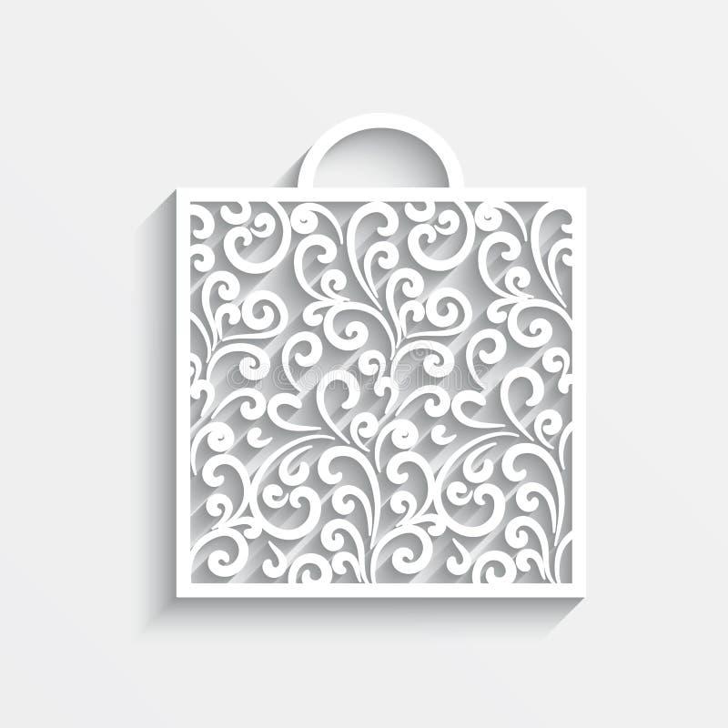 Download Ornamental paper bag stock vector. Image of illustration - 36874014