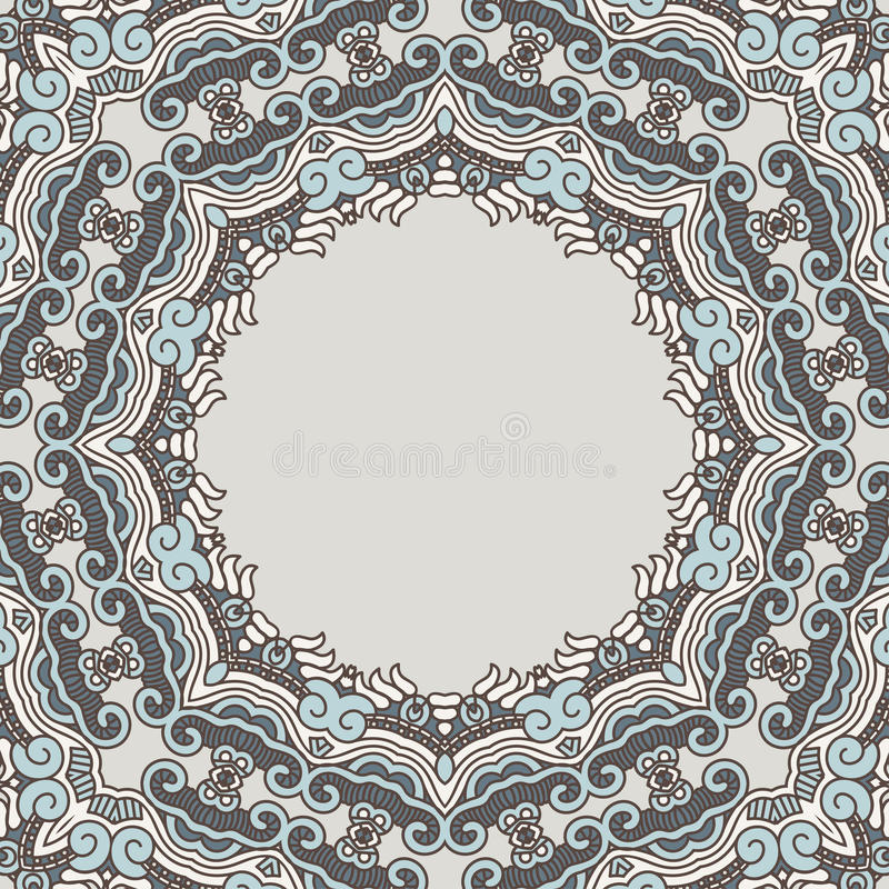 Download Ornamental pattern stock vector. Image of line, background - 26628383