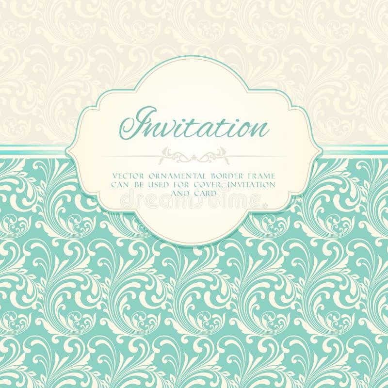 Ornamental pattern invitation card stock vector illustration of ornamental pattern invitation card or album cover template vector illustration stopboris Images