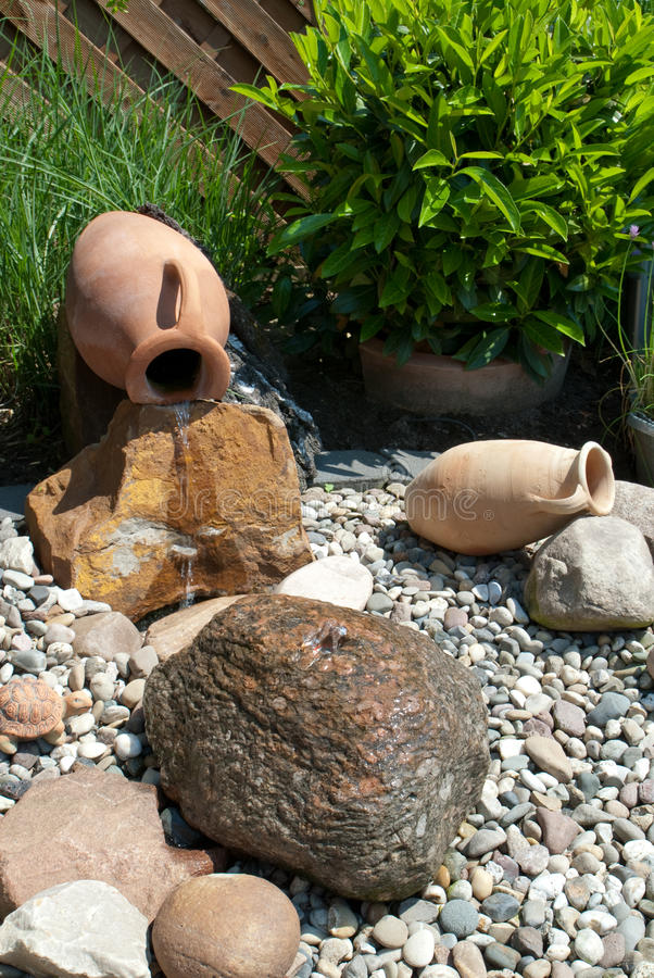 ornamental pełnometrażowa ogrodowa woda fotografia stock