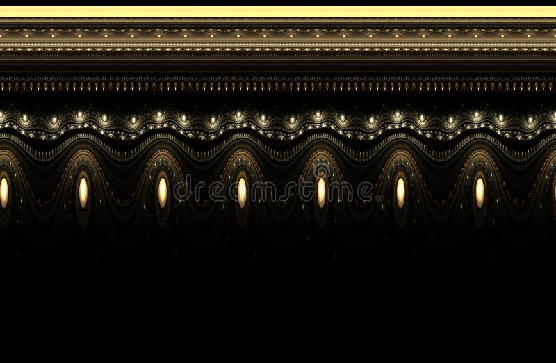 ornamental rocznik deseniowy bezszwowy royalty ilustracja