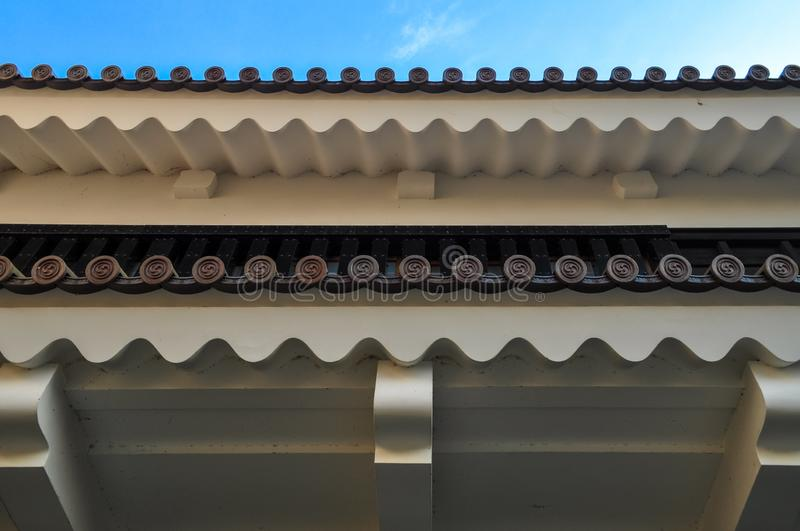 Ornamental roof of a Japanese traditional architecture royalty free stock photos