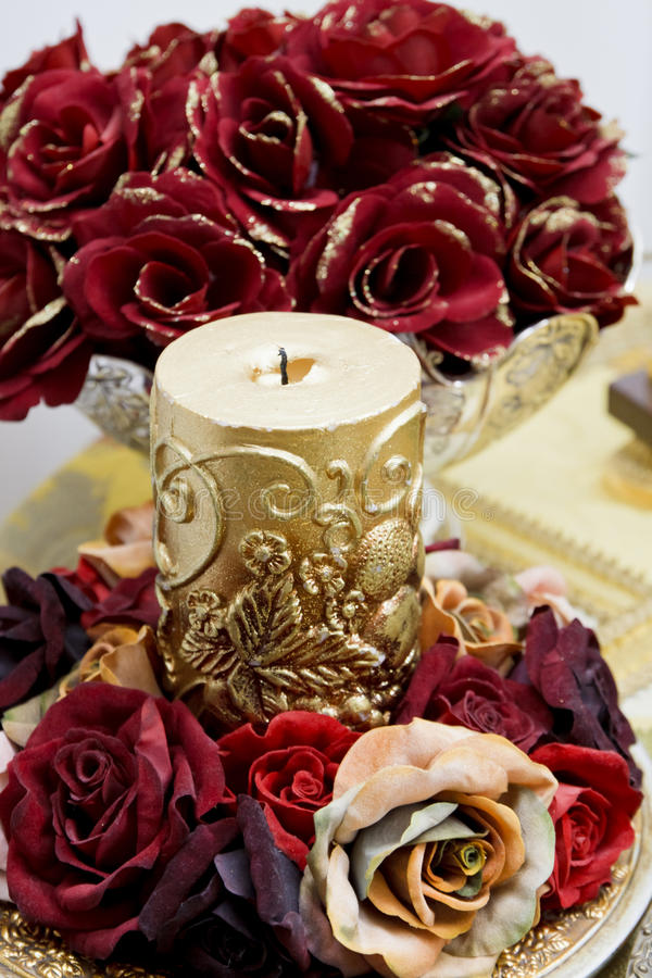 Download Ornamental rose candle stock photo. Image of flowery - 19269016