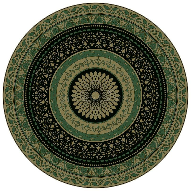 Ornamental round floral pattern stock illustration