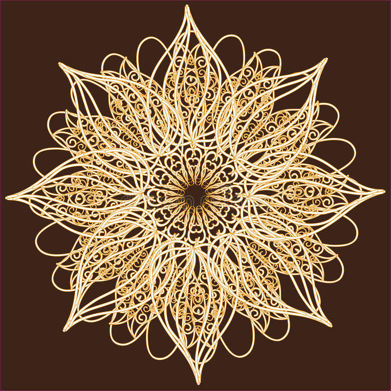 Ornamental Round Lace, Circle Ornament. Royalty Free Stock Image