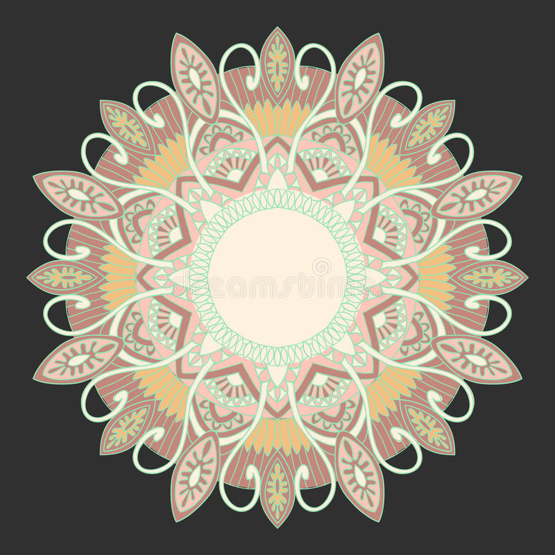 Download Ornamental Round Lace In Ethnic Style Stock Vector - Image: 25544870