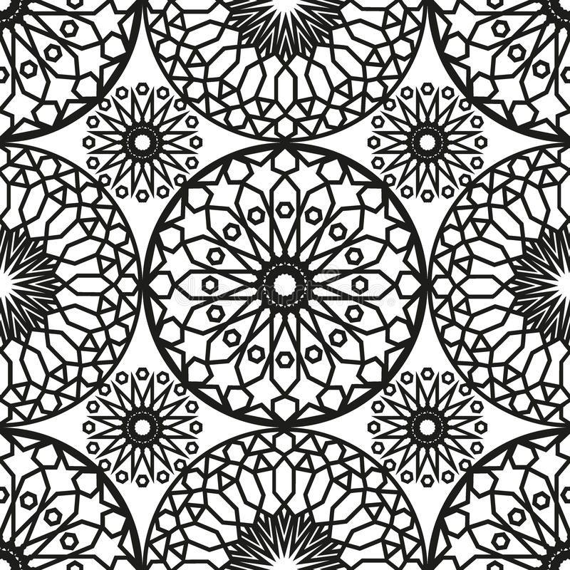 ornamental round morocco seamless pattern orient traditional ornament oriental motif flat. Black Bedroom Furniture Sets. Home Design Ideas
