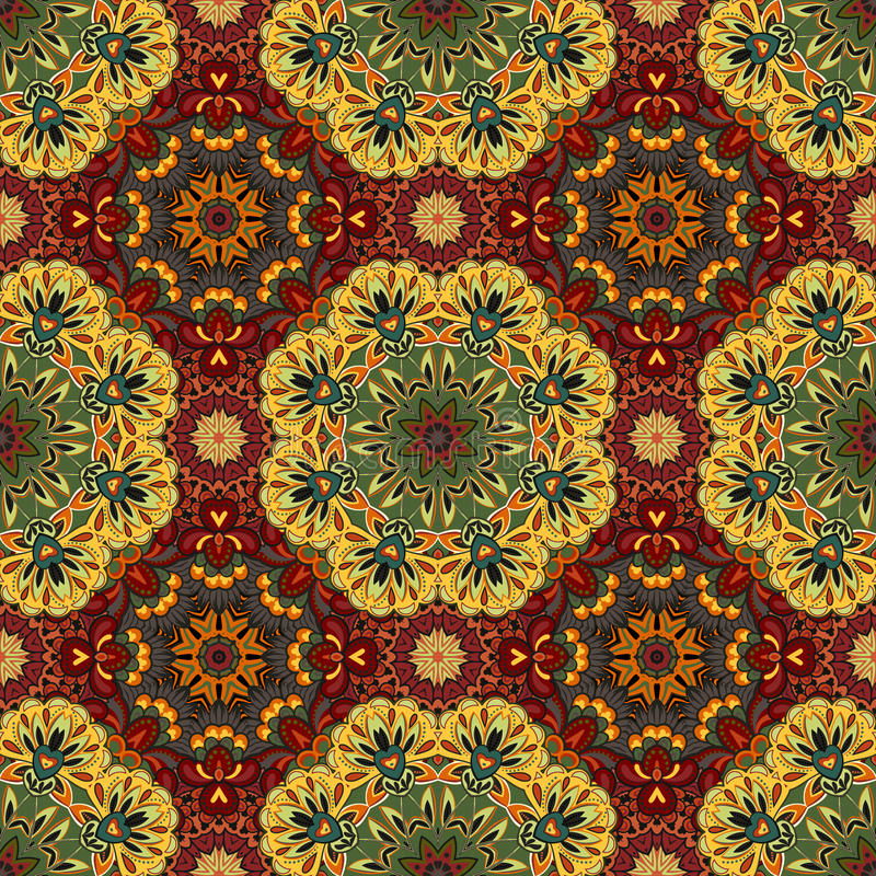 Ornamental round morocco seamless pattern. Orient traditional ornament. Oriental motif. Flat. Moroccan tile. royalty free illustration