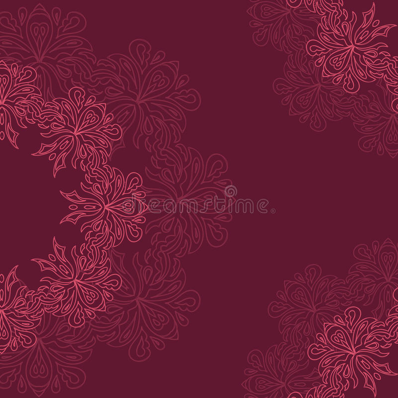 Ornamental round organic pattern stock image