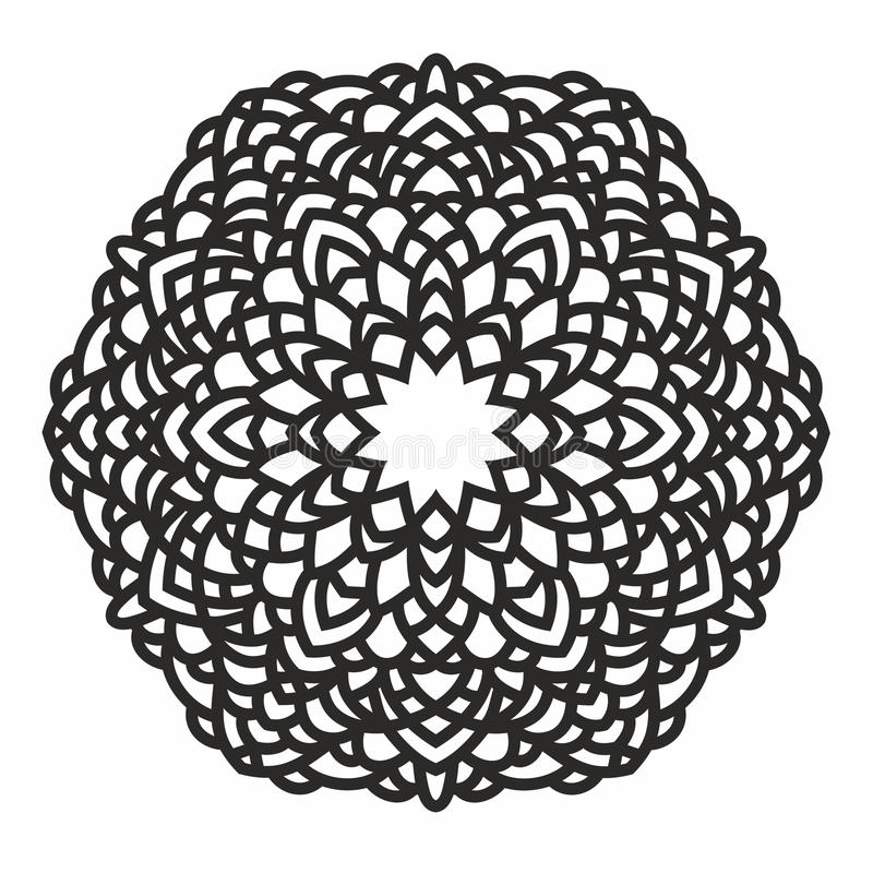 Ornamental round pattern vector illustration
