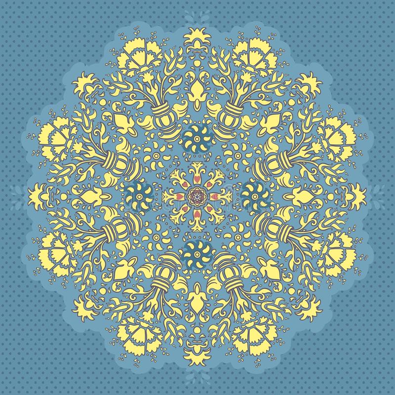 Download Ornamental Round Seamless Lace Pattern Stock Vector - Illustration of napkin, leave: 24586130