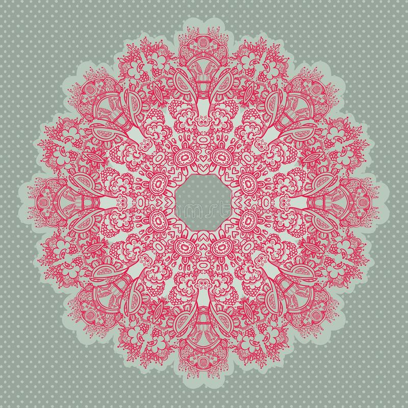 Download Ornamental Round Seamless Lace Pattern Stock Vector - Illustration: 24588378