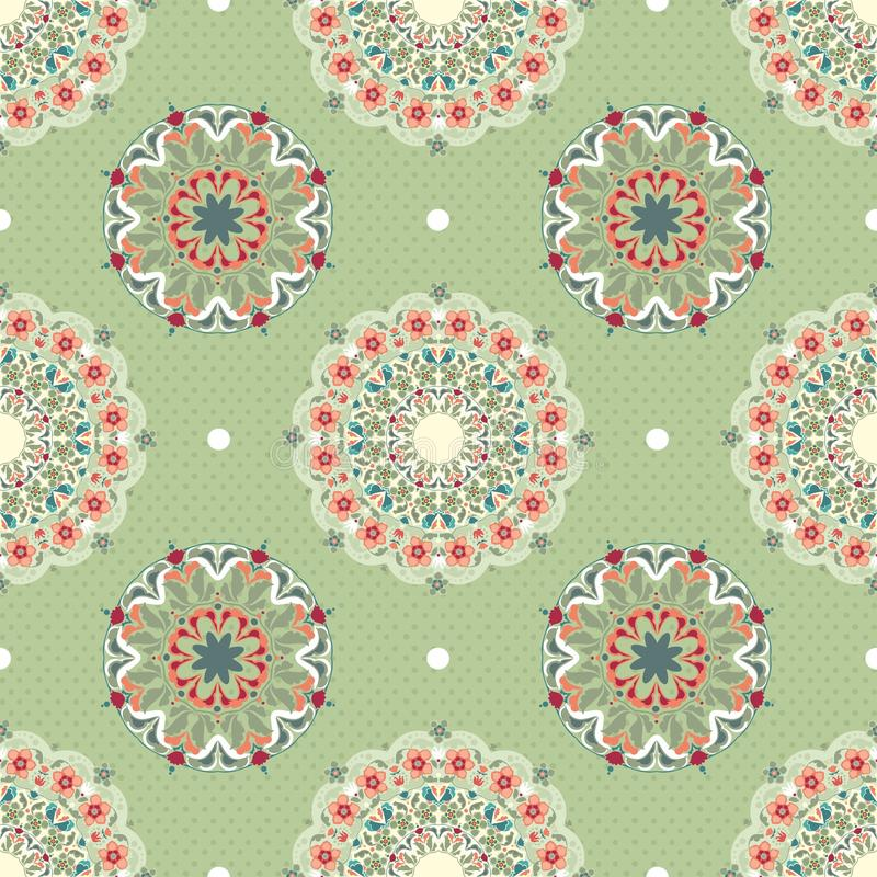 Download Ornamental Round Seamless Pattern Stock Illustration - Illustration of repetition, color: 25023127