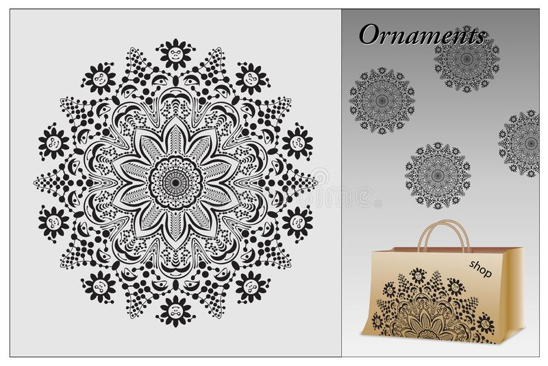Ornamental round vector decorative elements suitable cutter plotter, laser or milling machine vector illustration