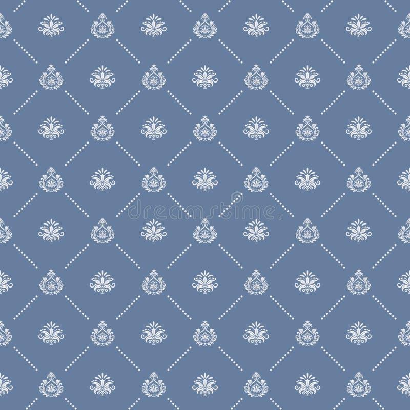 Ornamental royal wedding seamless background stock illustration