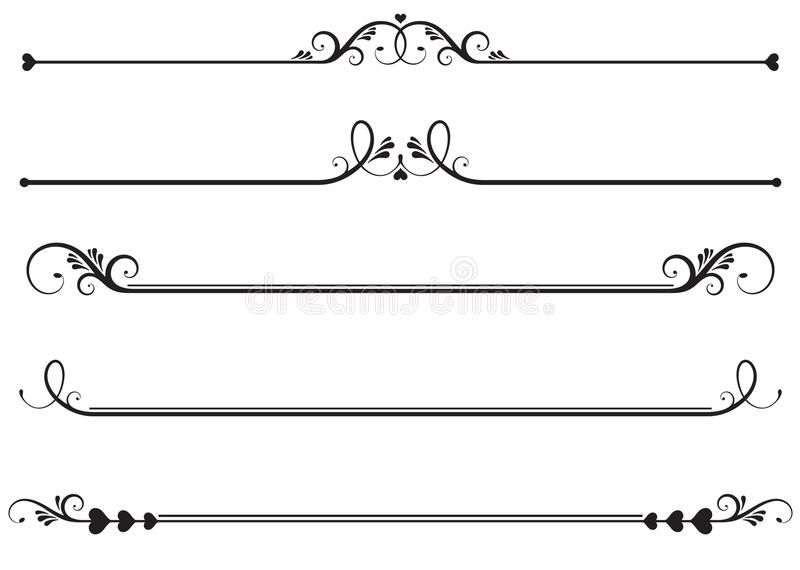 Ornamental Rule lines vector illustration
